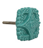 The Decor Mart Green Ceramic Door Knob - Set Of 4