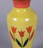 The Decor Mart Orange & Yellow Ceramic Exclusive Flower Vase