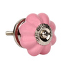 The Decor Mart Pink Ceramic 2.8 x 1.8 x 1.8 Inch Door Knobs - Set of 4