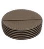 The Decor Mart Taupe Faux Leather Coasters - Set of 6