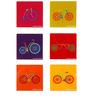 The Elephant Company Acrylic Coaster Joyride Tweet - Set of 6