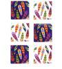 The Elephant Company Acrylic Coaster Tropical Feathers - Set of 6