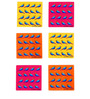 The Elephant Company Acrylic Coasters Gond Parrots - Set of 6