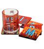 The Elephant Company MDF Coaster Mumbai City Scape - Set of 6
