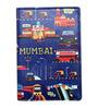 The Elephant Company Mumbai Meri Jaan Blue Faux Leather 5.6 x 4 x 0.8 inch Passport Cover