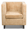 The Ellen One Seater Sofa in Beige Colour by HomeHQ