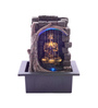 The Exclusive Deco Brown Resin Cute Buddha Electric Operated Indoor Fountain