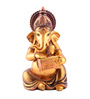 The Exclusive Deco Multicolour Polystone Musical Ganesh - RD0539