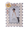 The Exclusive Deco White & Silver Plastic 5.9 x 1 x 8.7 Inch Shapely Photo Frame