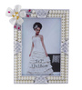 The Exclusive Deco White & Silver Plastic 7.1 x 1 x 8.7 Inch Divine Photo Frame