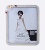 The Exclusive Deco White & Silver Plastic 9.1 x 1 x 10.6 Inch Elegant Photo Frame