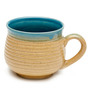 The Himalayan Goods Company Marine and Tan Stoneware 160 ML Tea Cup - Set of 6