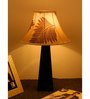 The Lamp Store Beige Brown Poly Cotton Facinating Table Lamp