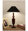 The Lamp Store Black Poly Cotton Classic Pyramid Table Lamp