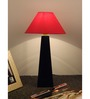 The Lamp Store Red Poly Cotton Facinating Table Lamp