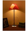 The Lamp Store Red Poly Cotton Table Lamp