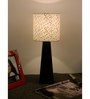 The Lamp Store White & Silver Poly Cotton Facinating Table Lamp