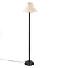 The Light House Yellow Pleated Black Metal Floor Lamp