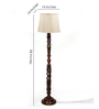 The Light House Off-White Twisted Wood Floor Lamp