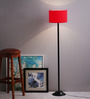 The Light House Red Cylinder Shade Metal Floor Lamp