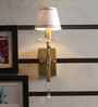 The Light Store Antique Brass Brass & Crystal Wall Mounted