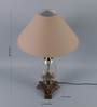 TLS by Kapoor Lampshades Black Cotton Table Lamp