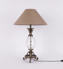 TLS by Kapoor Lampshades Brass Table Lamp