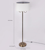 TLS by Kapoor Lampshades Brass Floor Lamp