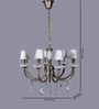 The Light Store Gold Metal & Cotton Chandelier