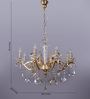 The Light Store Gold Metal & Glass Chandelier