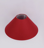 TLS by Kapoor Lampshades Maroon Cotton Conical Lamp Shade