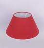 TLS by Kapoor Lampshades Maroon Cotton Empire Lamp Shade