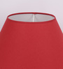 The Light Store Maroon Cotton Empire Lamp Shade