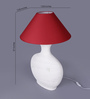 The Light Store Maroon Cotton Table Lamp