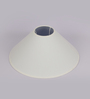 TLS by Kapoor Lampshades Off White Cotton Conical Lamp Shade