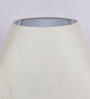 TLS by Kapoor Lampshades Off White Natural Raw Silk Round Square Lamp Shade