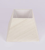TLS by Kapoor Lampshades Off White Natural Raw Silk Square Lamp Shade