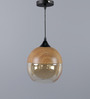 The Light Store Transparent Wood and Glass Pendant
