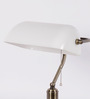 The Light Store White Glass Study Lamp