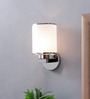 TLS by Kapoor Lampshades White Glass Wall Light