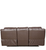 The Look Manual Three Seater Recliner Sofa in Brown Colour by Sofab