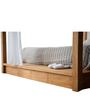 The Majestic Pine Wood Canopy King Bed in Brown Colour by Asian Arts