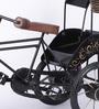 Quentin Jodhpuri Antique Rickshaw with Hut in Black by Amberville