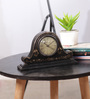 The Mikky Shoppe Station Black & Brown Mango Wood & MDF Table Clock