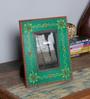 The Mikky Shoppe Station Multicolour MDF 10 x 2 x 8 Inch Handpainted Jodhpuri Photo Frame