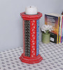 The Mikky Shoppe Station Multicolour MDF Handpainted Jodhpuri Candle Stand