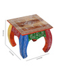 The Mikky Shoppe Station Multicolour Wood & MDF Rajasthani Handpainted Chowkie