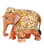 The Nodding Head Brown Wooden Shimmering Elephant Showpiece
