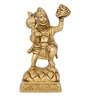 The Nodding Head Golden Brass Hanuman Carrying Mountain of Herbs Statue