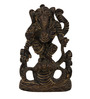 The Nodding Head Black Brass Intricately Carved Lord Ganesha Idol